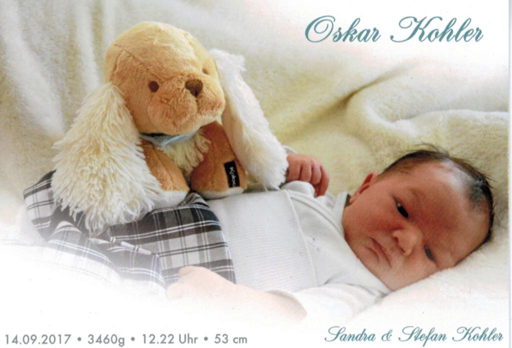 WISCH begrüsst Oskar!